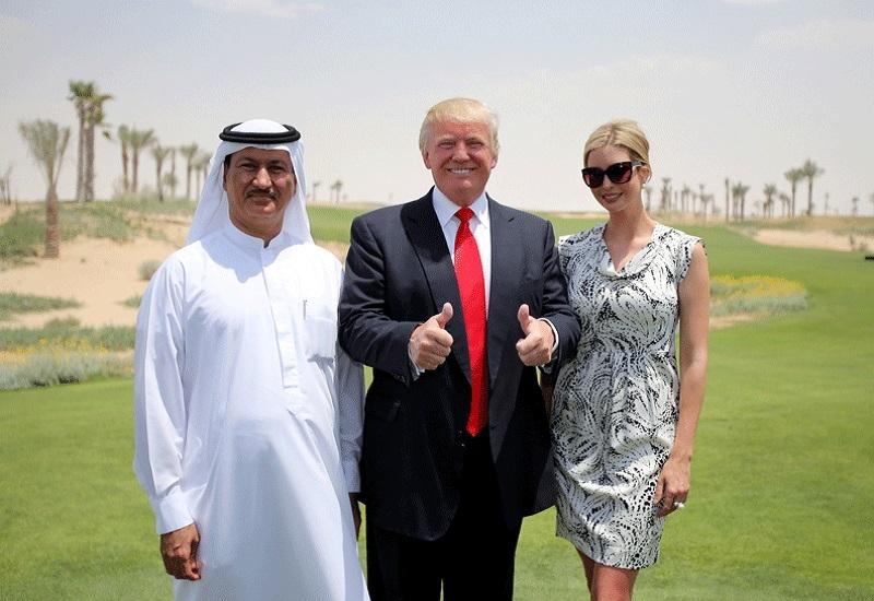 A file photo of Donald Trump with daughter Ivanka Trump and Hussain Sajwani of Damac Properties in Dubai.