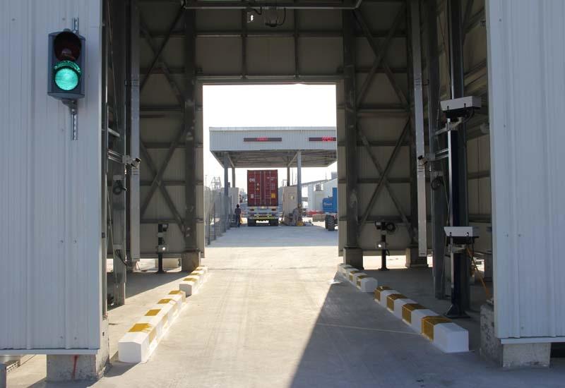 Hutchison Ports Sohar automated gate system.
