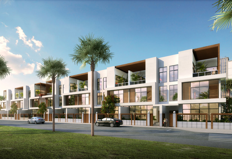 Located in Dubais JVC area, Hyati Residence I and II comprise 20 G+2 four-bedroom townhouses.