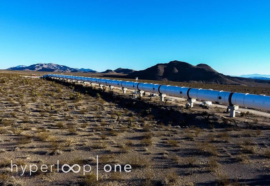 In Pictures: Hyperloop One's desert test site