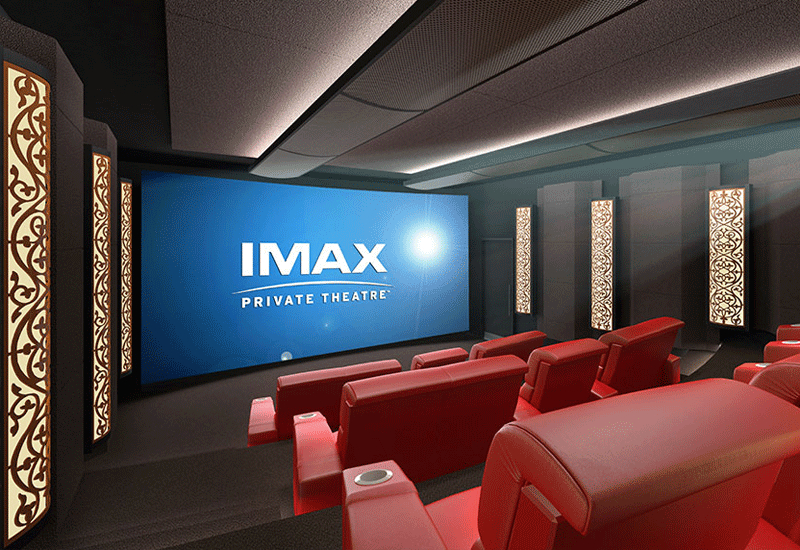 The Imax Private Theatre's Palais build-out costs about $400,000 for the theatre itself.