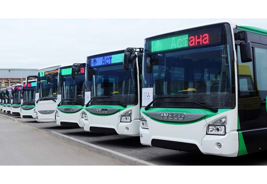 Iveco Urbanway Euro VI and Hybrid buses delivered to the city of Astana for the Expo 2017 being held in the city.