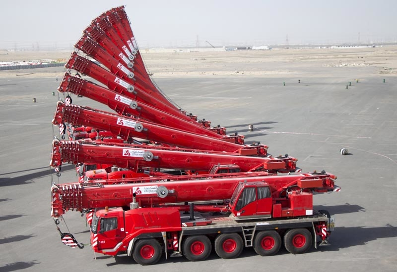 A number of the 24 Grove all-terrain cranes added by Integrated Logistics to its fleet.