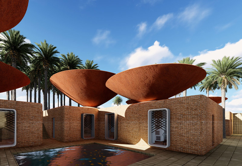 Concave Roof system by BMDesign Studios in Iran.