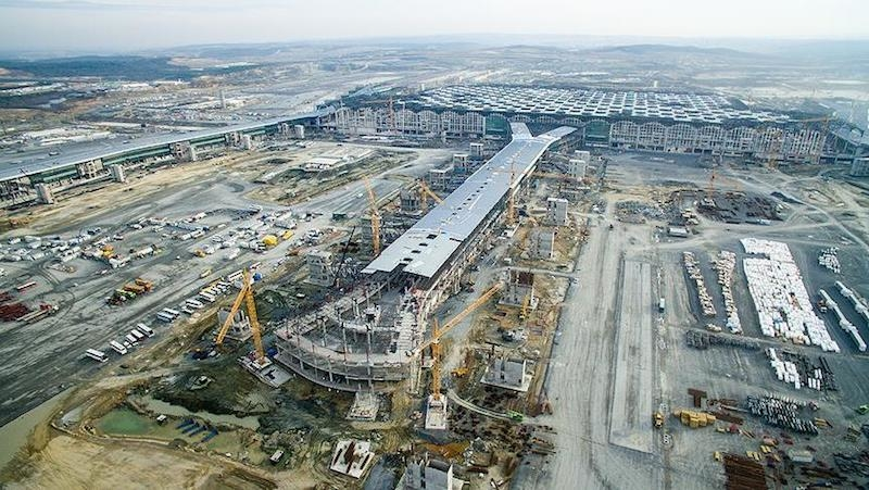 Turkey's $12.7bn Istanbul New Airport megaproject is on track to open this year [image: Andalou Agency].