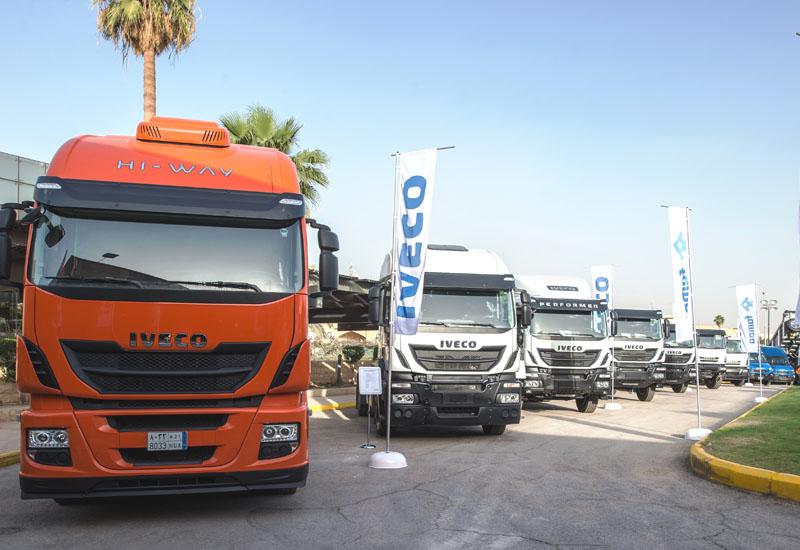 Iveco displays its lineup in Saudi Arabia.