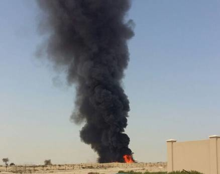 DCD contained the fire that broke out at a construction site in Dubai. [Image: Gulf News]