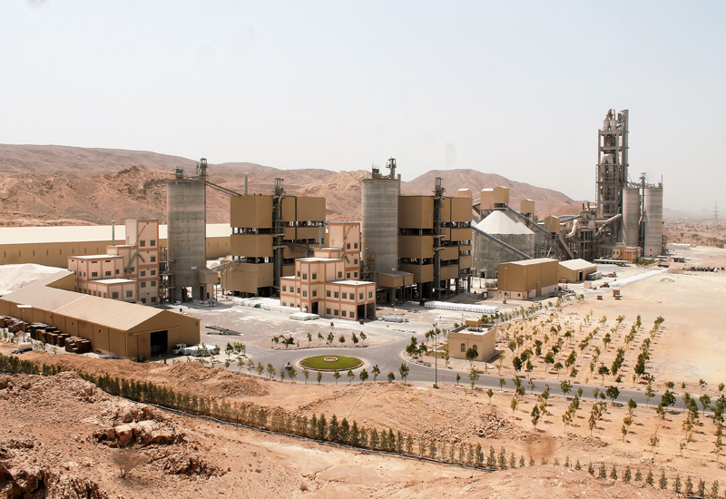 JK White Cement factory in Fujairah.