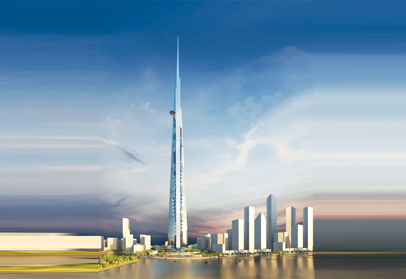 Rendering of the Jeddah Tower in Saudi Arabia.