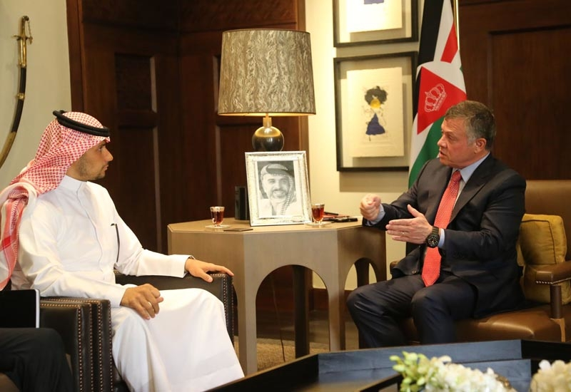 KBW Chairman, HRH Prince Khaled bin Alwaleed bin Talal, and His Majesty King Abdullah II bin Al-Hussein of Jordan.