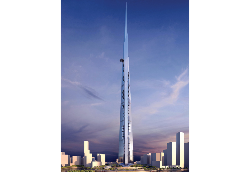 Up to 37 floors of Jeddah Tower have been completed.