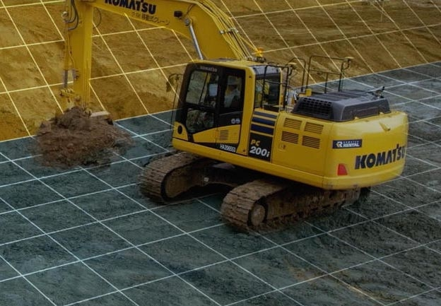 Komatsu's SmartConstruction uses drones to create detailed 3D site maps.