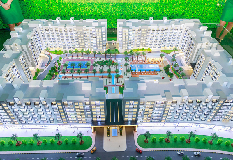 The 1,064-unit Lawnz is Danube's first project in International City, Dubai.