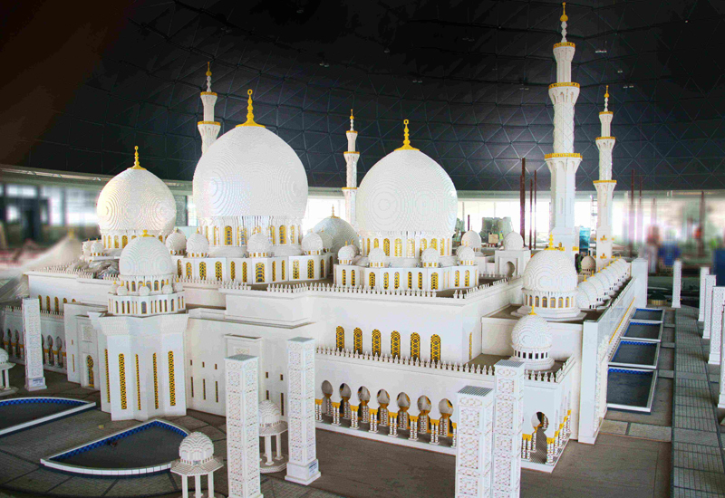 Legoland Dubai's Sheikh Zayed Grand Mosque replica took six technicians 6,300 hours to complete, and weighs in at over 1.3 tonnes.