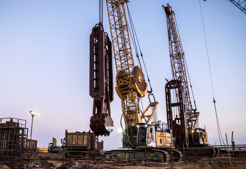 Züblin Spezialtiefbau has dispatched 10 Liebherr crawler cranes to support the construction of two road tunnels beneath Egypt's Suez Canal.