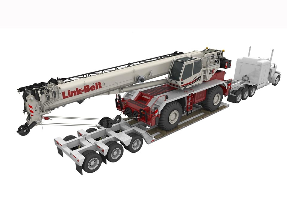 The 75RT is easily transportable with a fully loaded transport weight of less than 45t.