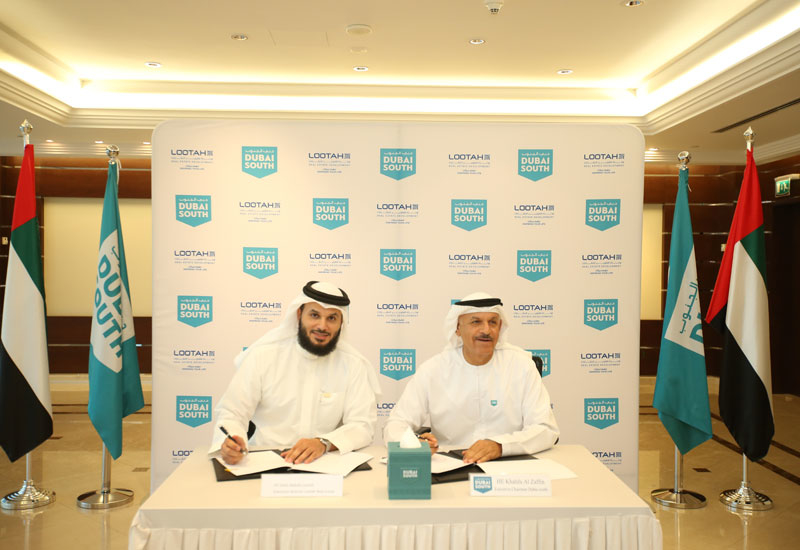 L-R: Saleh Abdullah Lootah, executive director of LRED, and HE Khalifa Al Zaffin, executive chairman of Dubai Aviation City Corporation.