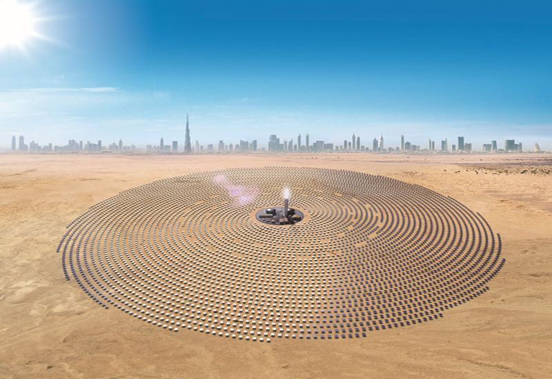 An EPC contract has been signed with Shaghai Electric for Phase 4 of Dubai's MBR Solar Park, co-developed by ACWA Power and DEWA, and the Silk Road Fund [representational image of the MBR Solar Park].