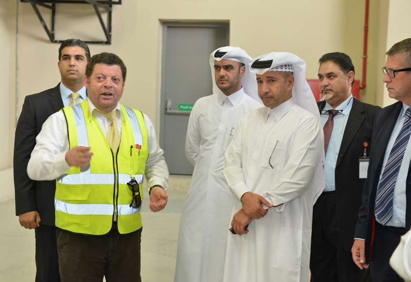 Members of Al Khajil Commercial Bank, the Modern Recycling Factory's (MRF) financial backer, were given a tour of the facility, which is now operational.