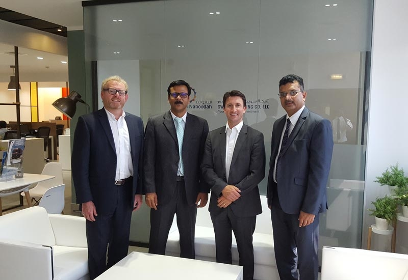 L-R: Phil Winnington, international business director for MSM; Harris Kaladi, Divisional Manager, Swaidan Trading; Chris Morris, CEO of MSM; and, Murali Vasuderan, Sales Manager at Swaidan Trading.