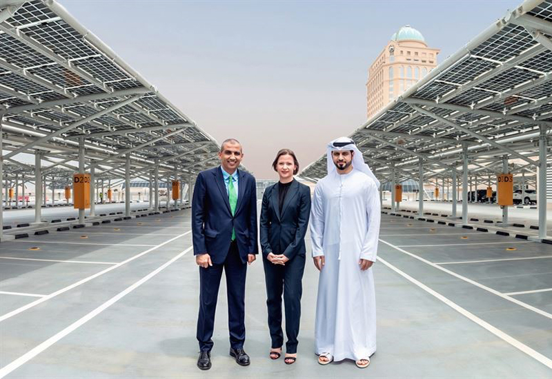 More than 7,000 solar panels were installed at the Mall of the Emirates car park.