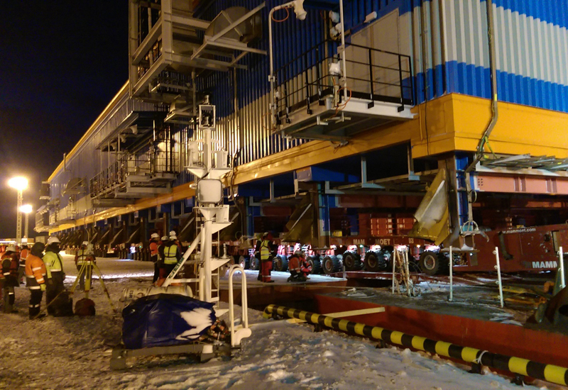 Mammoet's contract at the Yamal LNG project will involve the use of 1,700 axle lines of SPMTs, the largest number ever to be used on a single project.