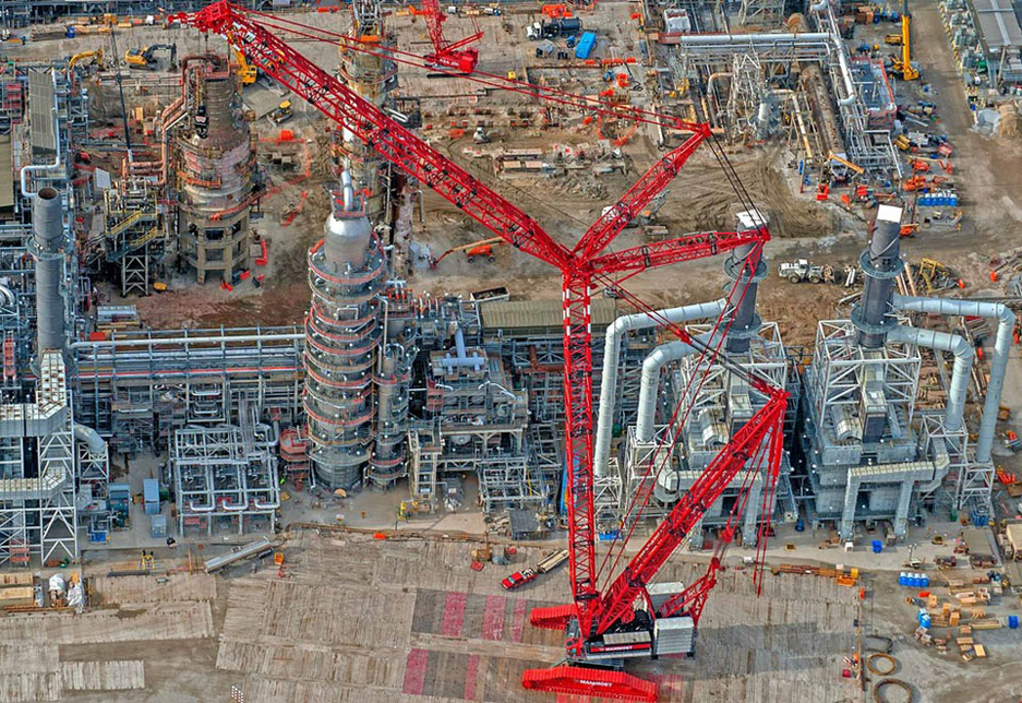 Mammoet's projects in the Middle East have predominantly been within the energy sector.