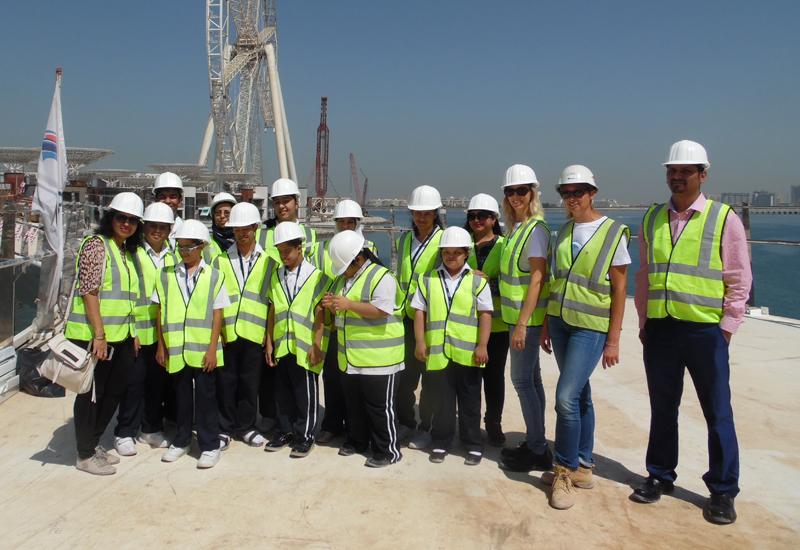 Manzil student site visit.