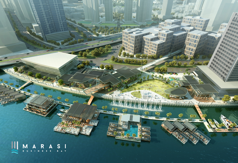 The waterfront will host five palm tree-lined marinas with 1,250 berths.
