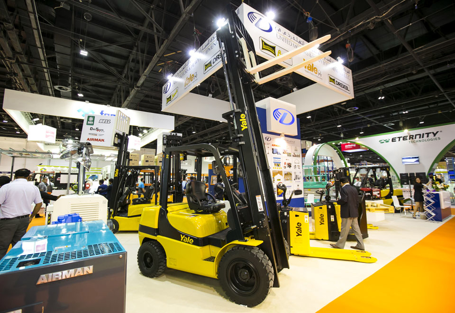 A view across the exhibition floor at Materials Handling Middle East 2015.