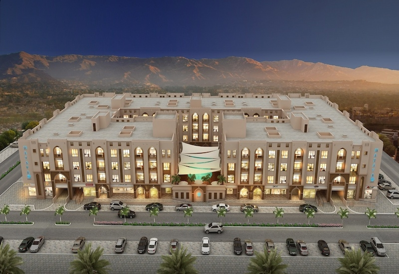 The construction of Mazaya Residence Oman is 65% complete.