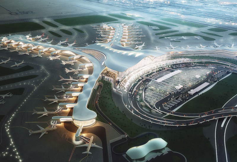 Abu Dhabi International Airport's Midfield Terminal Building.