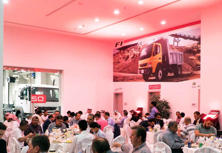 More than 150 Saudi truck operators attended the Fuso Thunderbolt launch event in Riyadh.