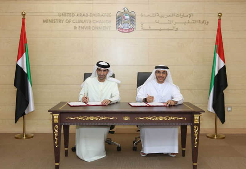 An agreement promoting cooperation in the field of waste management has been signed by the UAE Ministry of Climate Change and Environment and Beeah [image: WAM].