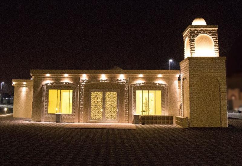 Modon temporary mosque in Riyadh City.