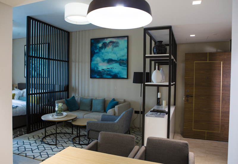 Interior of Mont Rose serviced apartment.
