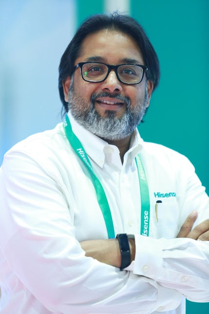 Moan Abraham, VP and GM for Air Conditioning at Hisense Middle East.