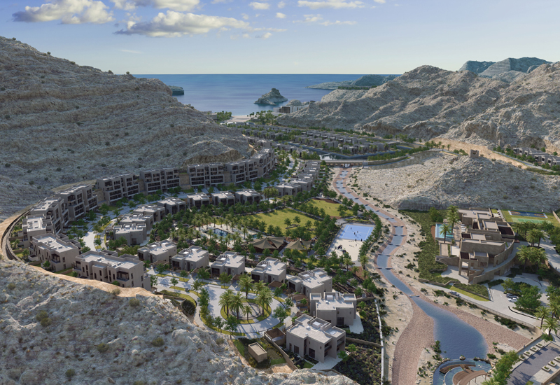 The resort village of Muscat Bay.
