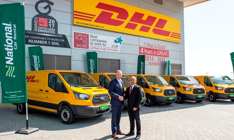 DHL and NCR representatives at the handover event.