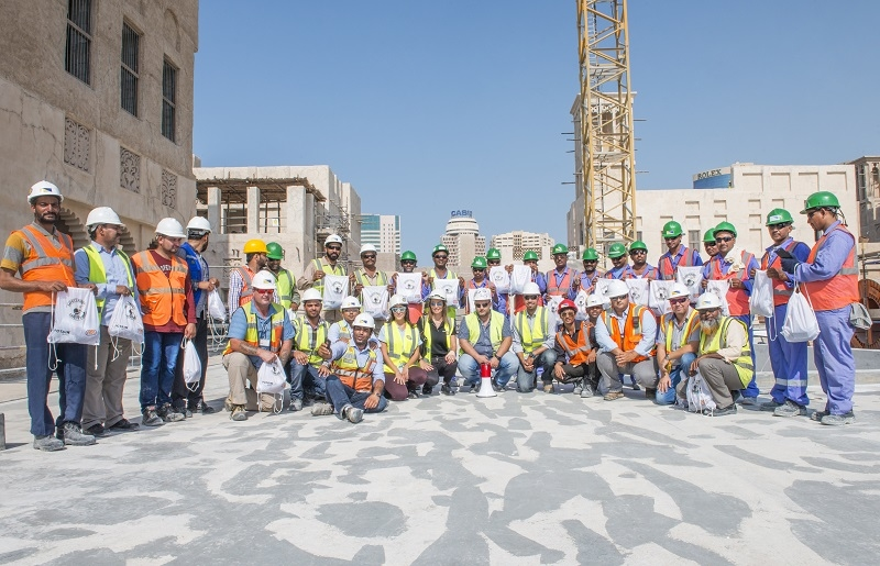 Tower crane safety training at Marsa Al Seef.