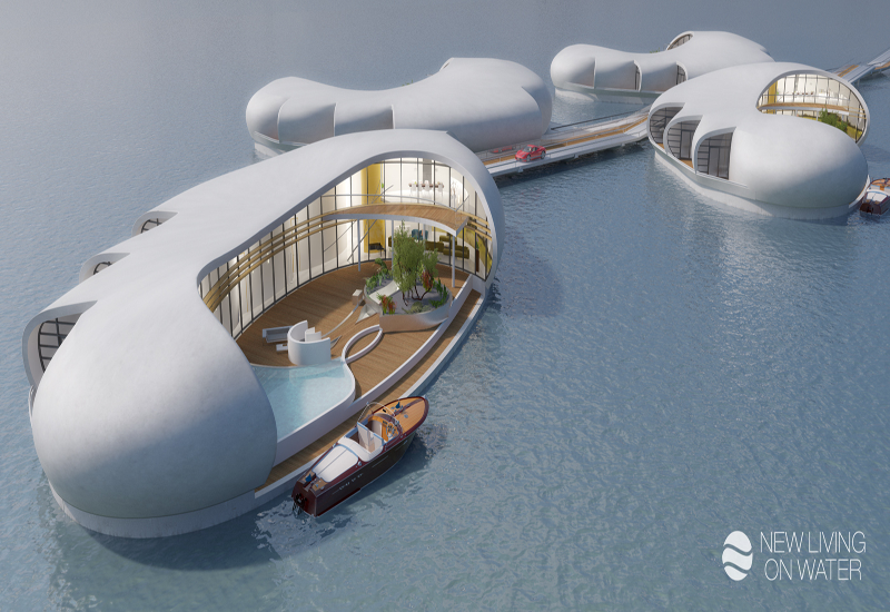 The floating homes have been developed by NLW in cooperation with CIG.