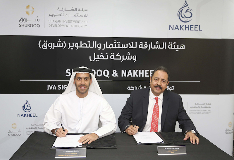 Nakheel and Sharjah's Shurooq have teamed up to develop the former's first project outside Dubai [image: WAM].