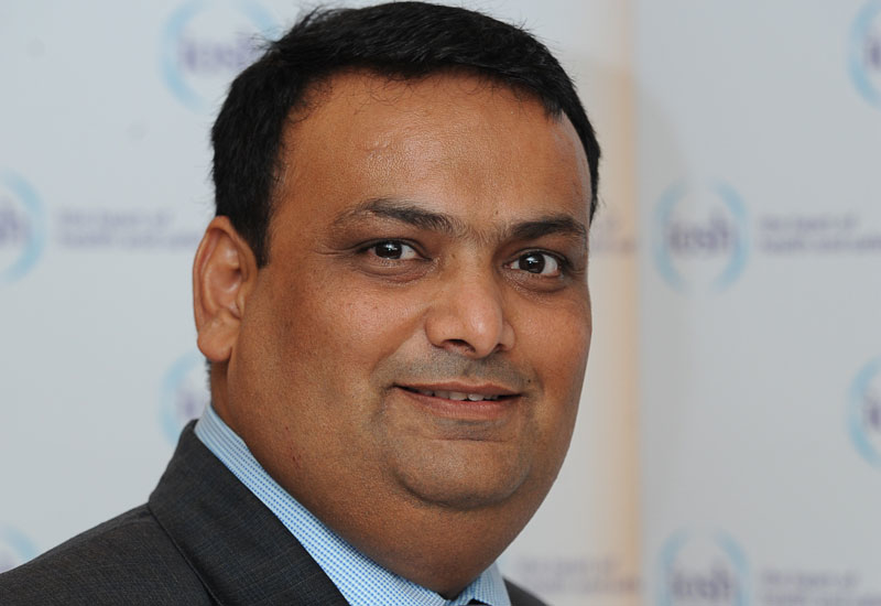 Neelesh Sogani (above) will replace Peter McNair as chair of the Oman branch of the Institution of Safety and Health (IOSH) next week.