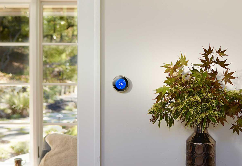 The Nest Learning Thermostat has been launched in the UAE by Google's parent company, Alphabet [image: arabianbusiness.com].