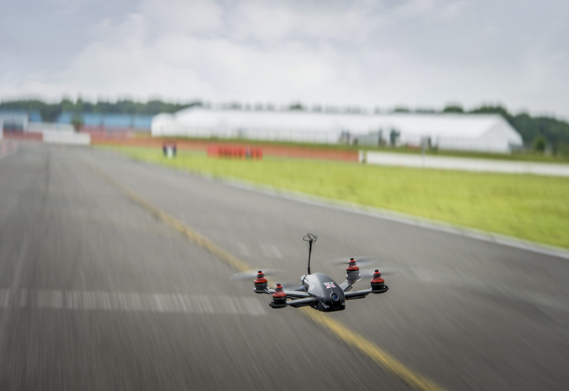 The Nissan GT-R drone was designed by World Drone Prix champions, Tornado XBlades Racing.
