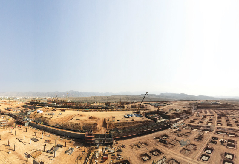 Oman Convention and Exhibition Centre is under construction at Madinat Al Irfan.