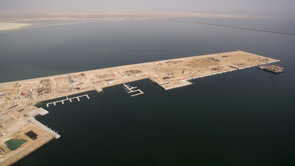 Duqm, pictured, was the first integrated economic city built in Oman.