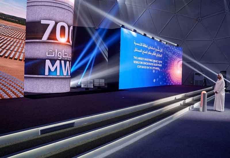 HH Sheikh Mohammed broke ground on Phase 4 of the MBR Solar Park in Dubai [image: Dubai Media Office].