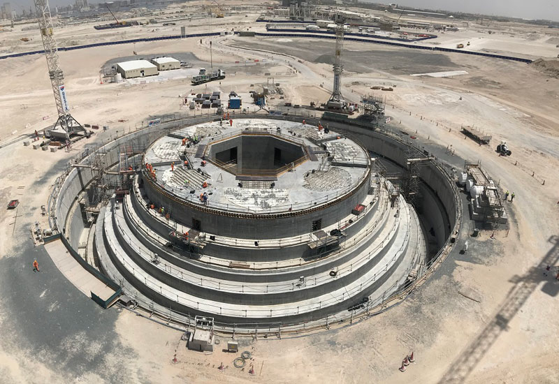 The pile cap for Dubai Creek tower has been completed.