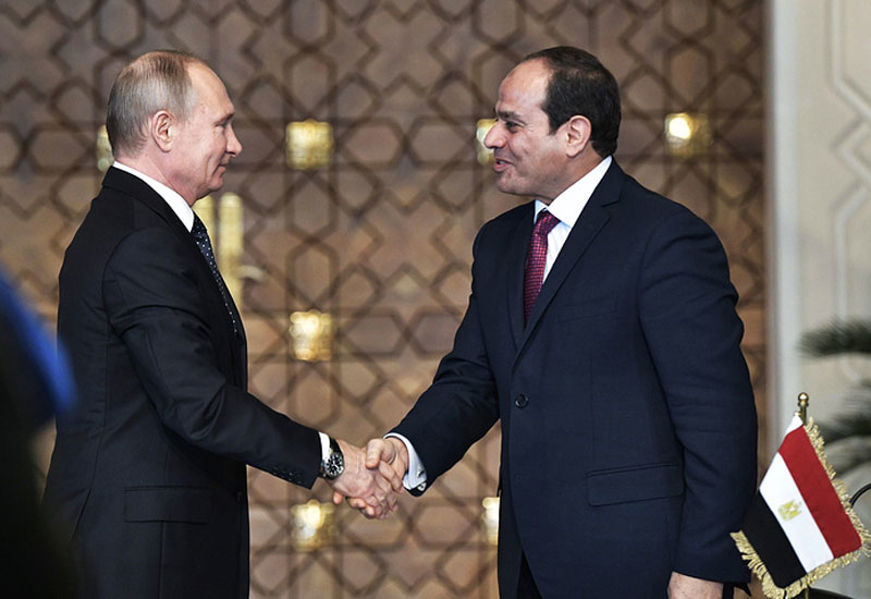 The Presidents of Russia and Egypt were present during the signing of Dabaa NPP's latest agreement [image: TASS.com].